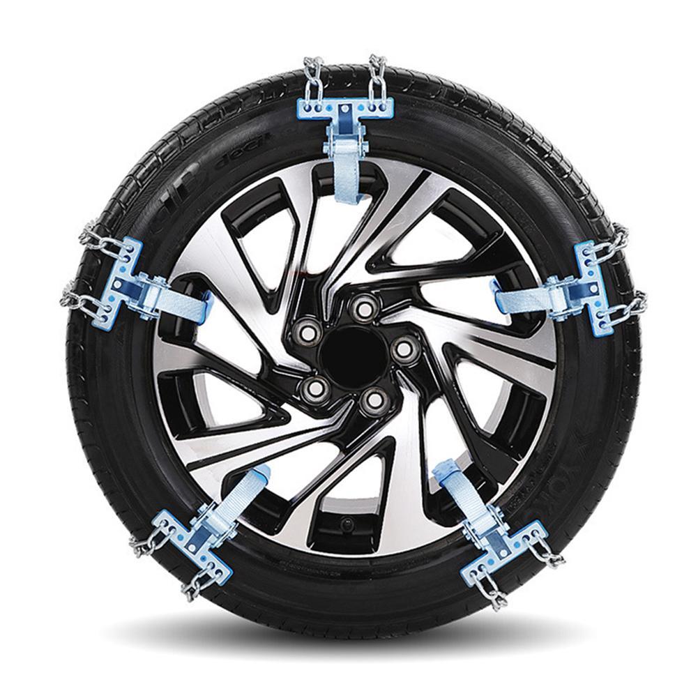 Универсальная автомобильная цепь для снега, зимние шины, колеса, регулируемые, противоскользящие, безопасность, двойная оснастка, противоскользящие, колесные цепи, автокросс, зимние автозапчасти - Цвет: S