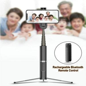 Image 5 - Drahtlose Bluetooth Selfie Stick Faltbare Mini Stativ Erweiterbar Einbeinstativ Mit Bluetooth Fernbedienung Für IOS Android Handys Stativ