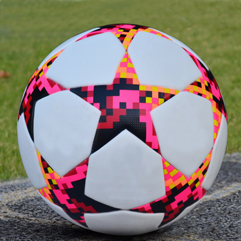 Football Ball Size 5 Seamless Soccer Ball Training Equipment Professional Goal Team Exercise Match Football Cup Sports Bola