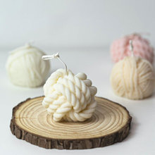 Woolen Ball Candle Mold Silicone Nordic Yarn Ball DIY Wax Soap Crafts Mould