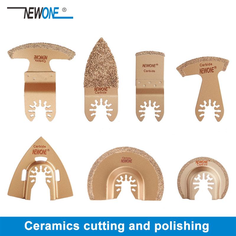 1pc NEWONE Hartmetall/Diamant Oszillierende Sägeblätter Für Schnell Ändern Multi-tools Fliesen Prorous Beton Zement Keramik Cutter