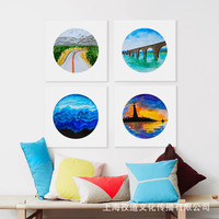 Mild Art Modern Minimalist Scenery Sea Sky Color Living Room CHILDREN'S Room Decorative Paintings with Frames Factory a Generati