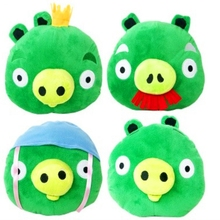16x20cm 90g Angry Green Pigs Soft Plush Stuffed Cotton Doll Toy