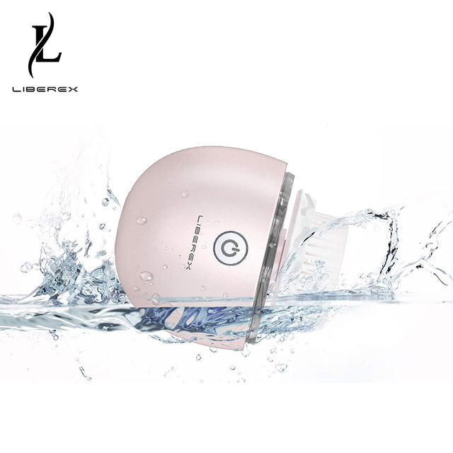 Liberex Egg Oscillation Facial Cleansing Brush Powered Face Cleaning Devices 3 Replacement Brush Heads IPX7 3 Modes Skin Care 1