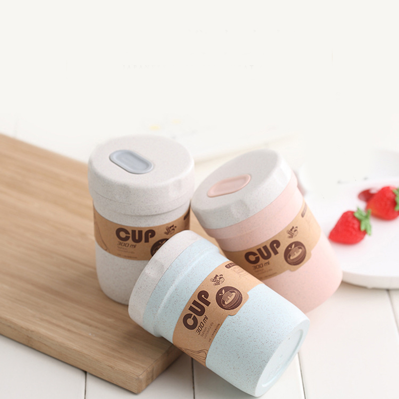 Creative Wheat Straw Breakfast Drink Porridge Cup Portable Breathable Sealed Soup Cans To Work Soup Cup Lunch Box Lunch Box Micr image