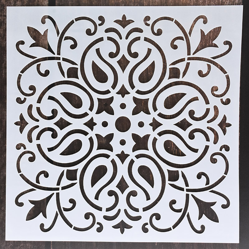 1pc 15*15 Mandala Stencils DIY home decoration drawing Laser cut template Wall Stencil Painting for Wood Tiles Fabric 4
