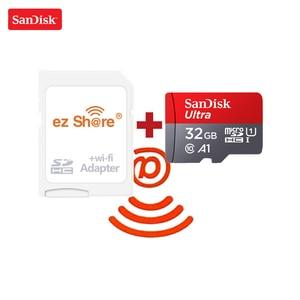 ezshare Wireless wifi adapter SanDisk Ultra 16GB 32GB class10 microsd wifi wireless TF Card Micro SD Card 64GB 128GB Memory Card