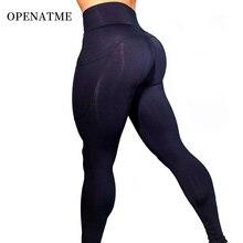 OPENATME High Waist Solid Color Leggings Sport Women Fitness Running Side Mobile Phone Pocket Yoga Pants