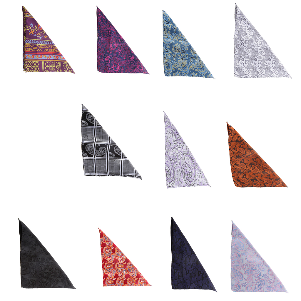 Men Stylish Novel Style Peiris Pattern Square  Portable  Hanky Handkerchief