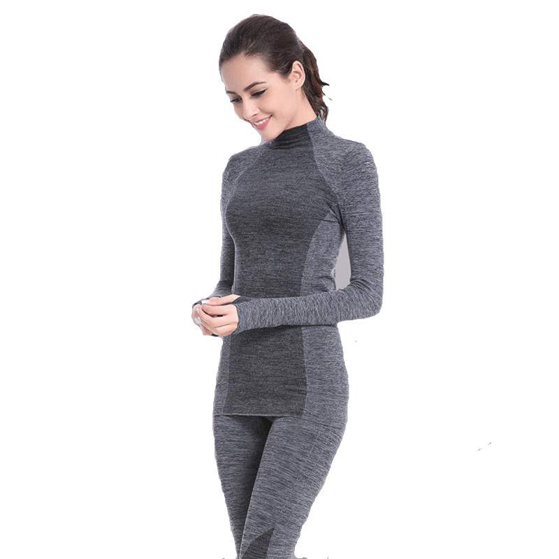 Thermal Underwear For Women New Winter Underwear Sets Anti-microbial High Stretch Thin Thermo Underwear Female Warm Long Johns