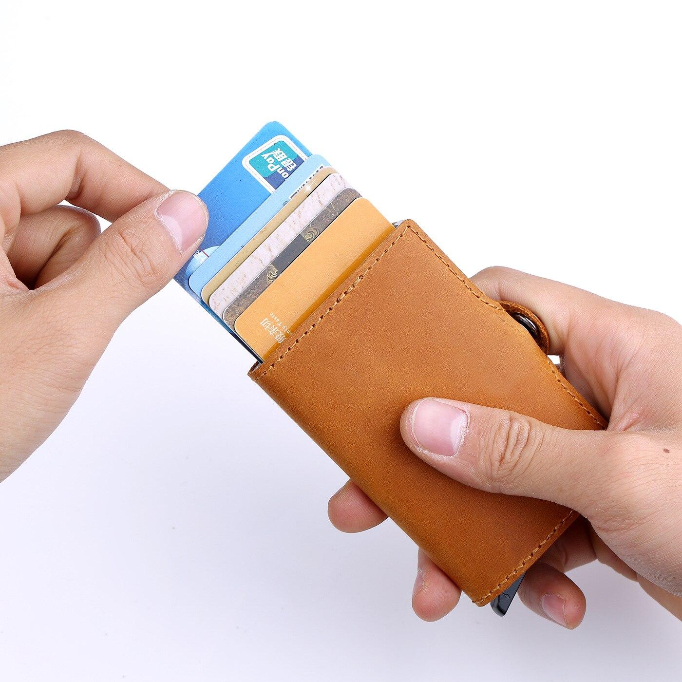 horse couro cartão de viagem carteira novo