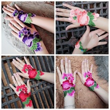 Chinese national characteristics cloth embroidery bracelet gloves wrist