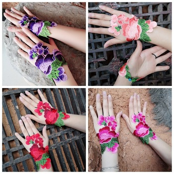 Chinese national characteristics cloth embroidery bracelet national embroidery gloves wrist bracelet