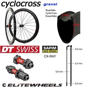 Image 5 - Elitewheels 700cディスクブレーキカーボンホイールdtスイス240シクロクロスため砂利バイクホイールセットクリンチャー管状チューブレスリム王