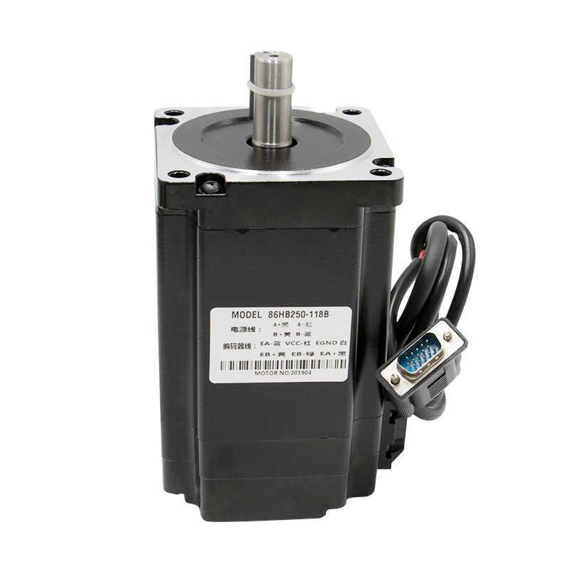 Libre shippingNema 34 4.5N 8.5N 12N m bucle cerrado servo Motor + servocontrolador HBS860H + cable codificador + 400w60v fuente de alimentación CNC