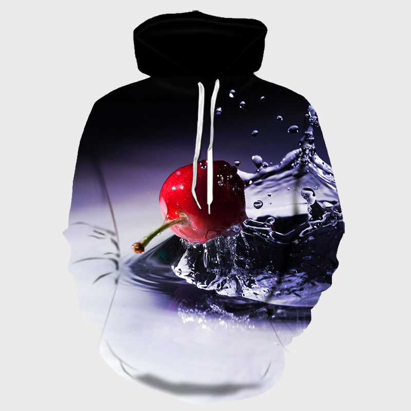 Europe and America Men Women Hoodies With Hat Hoody Print Color Blocks Autumn Winter 3D Sweatshirts