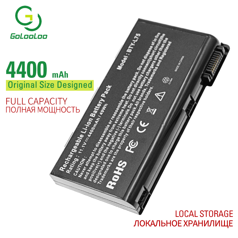 Golooloo 6 cells laptop battery for <font><b>MSI</b></font> CX630 CX700 <font><b>GE700</b></font> EX460 EX610 CX623 CX705 CX705MX CX705X CX500 CX500DX A7005 BTY-L74 image