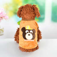 Pet Warm Sleeveless Costume Dog Clothes Small Pet Cat Dog Cute Vest Soft Puppy Dogs Clothes Winter Flannel Cartoon Vest N06