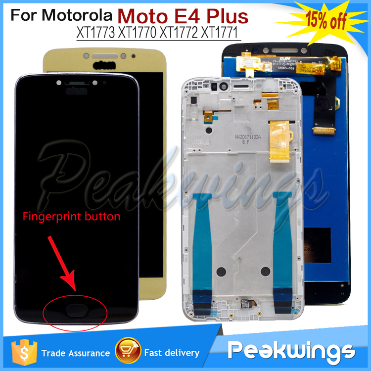 Tested LCD For Motorola <font><b>Moto</b></font> <font><b>E4</b></font> <font><b>Plus</b></font> LCD <font><b>Display</b></font> Screen Assembly XT1773 <font><b>XT1770</b></font> XT1772 XT1771 For <font><b>MOTO</b></font> <font><b>E4</b></font> PlusLCD LCD image