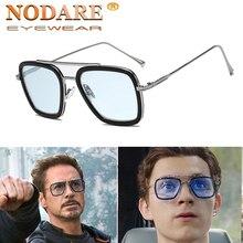 luxury Fashion Avengers Tony Stark Style for women Sunglasses Men Square Brand D