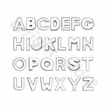 1pc A-Z silver plain English letter Alphabet Internal Dia:8mm Slide Letter charms Fit DIY keychain Bracelet Pet Collar(China)
