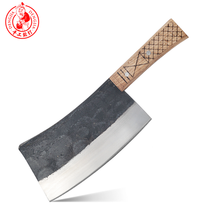 Cuchillo de carnicero DENGJIA, cuchillo de Chef de acero al carbono forjado Manual tradicional chino para cortar el hueso, mango de ahorro de trabajo, picadora