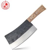 DENGJIA Metzger Messer Chinesische Traditionelle Manuelle Schmieden Carbon Stahl Kochmesser Knochen zu Schneiden Arbeitssparende Griff Chopper
