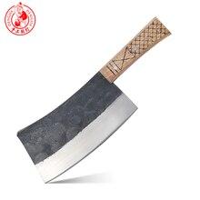 DENGJIA kasap bıçağı çin geleneksel manuel dövme karbon çelik şef bıçağı kesmek için kemik emek tasarrufu kolu kıyıcı