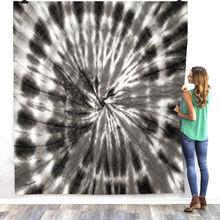 Психоделическое Флисовое одеяло tie dye 3d Полноразмерное переносное