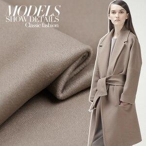Image 5 - 150cm duplo face cor lã cashmere tecido casaco de inverno casaco grosso tecido de lã de caxemira por atacado pano de caxemira