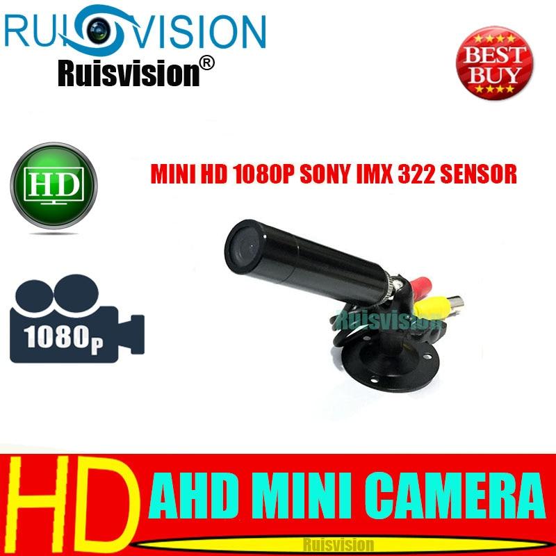 HD MINI AHD SONY Czujnik IMX322 1080 P / 2,0 MP Mini AHD Bullet Kamera CCTV do nadzoru bezpieczeństwa w domu kamera wideo Darmowa wysyłka