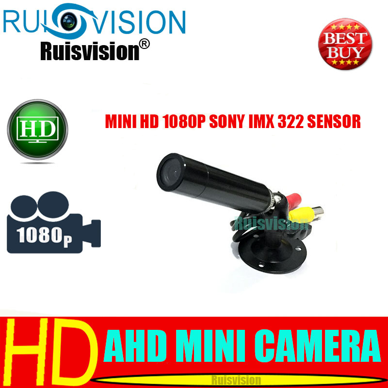 HD MINI AHD SONY Sensor IMX322 1080P / 2.0MP Mini AHD Bullet Cámara CCTV para cámaras de video de vigilancia de seguridad para el hogar Envío gratis