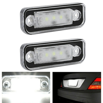 2Pcs License Number Plate Light LampFree for Benz Mercedes W203 5D W211 R171 W219
