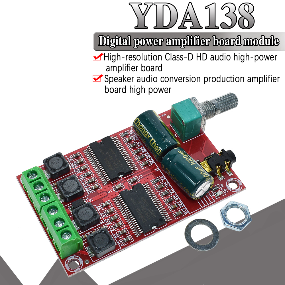 WAVGAT XH-M531 YDA138 20W X 2 DC12-15V For Yamaha Digital Amplifier Board Stereo HIFI Class D Audio Amplifier Board YDA138-E