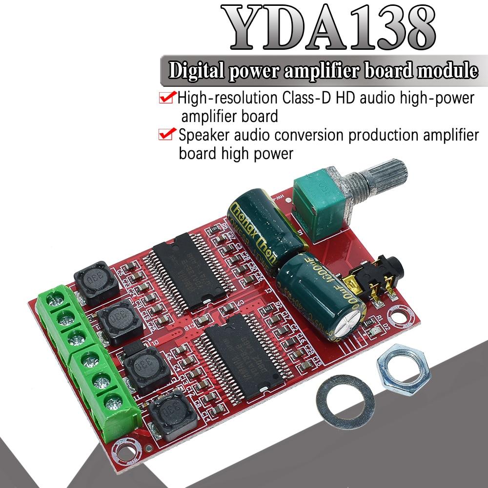 WAVGAT XH-M531 YDA138 20W X 2 DC12-15V For Yamaha Digital Amplifier Board Stereo HIFI Class D Audio Amplifier Board YDA138-E