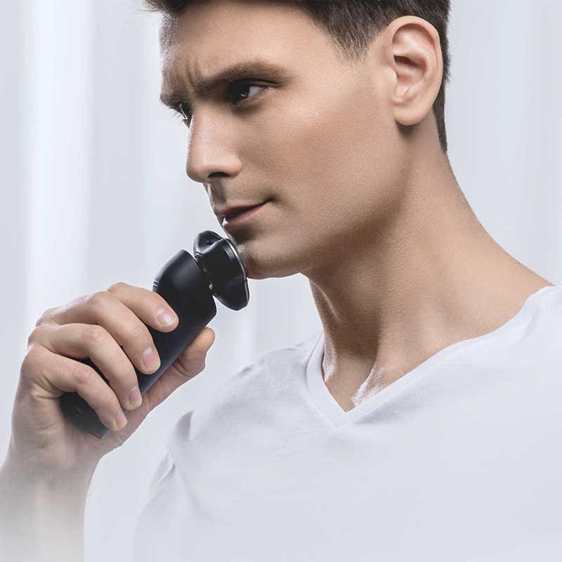 Maquinilla de afeitar eléctrica Xiaomi Mijia para hombre tipo C recargable 3 cabezal máquina de afeitar húmeda seca recortadora de barba lavable doble hoja