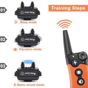 Image 3 - Petrainer 619A 2 Dog Training Electric Collar for Dogs with Vibration/Static Shock/Tone Training Stimulations for All Dogs