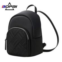 BOPAI Mini Women Backpack Small Purse Travel Waterproof Blac