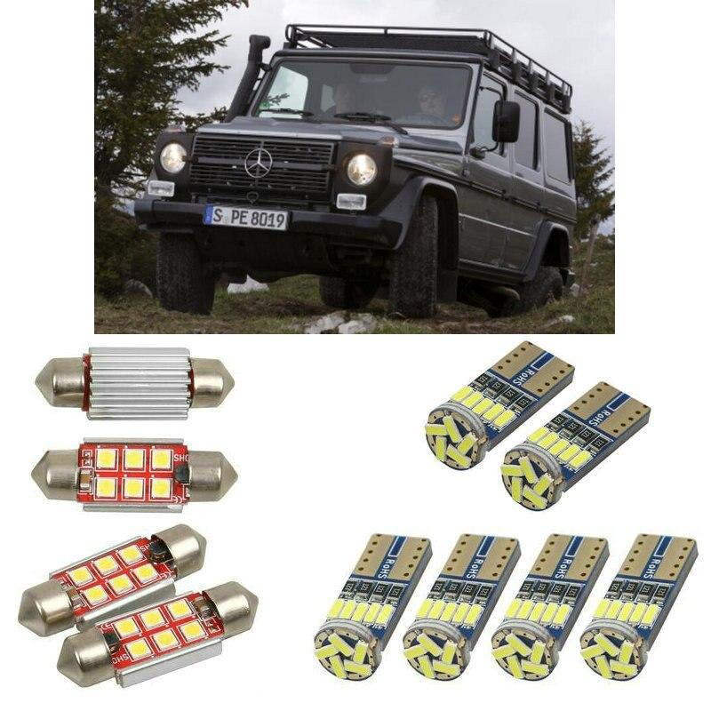 6 шт., автомобисветильник светодиодные лампы для салона mercedes g класса w461