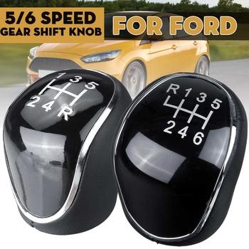 5 6 prędkość MT gałka zmiany biegów dźwignia zmiany biegów piłka ręczna dla Ford Mondeo MK4 Focus MK2 MK3 c-max s-max I II Kuga Galaxy MK2 MK3 tanie i dobre opinie Autoleader CN (pochodzenie) 1 2cm PU Leather Plastic 100g Auto Shifter Lever Stick For Ford Mondeo Mk4 For Ford Focus Mk2 MK3