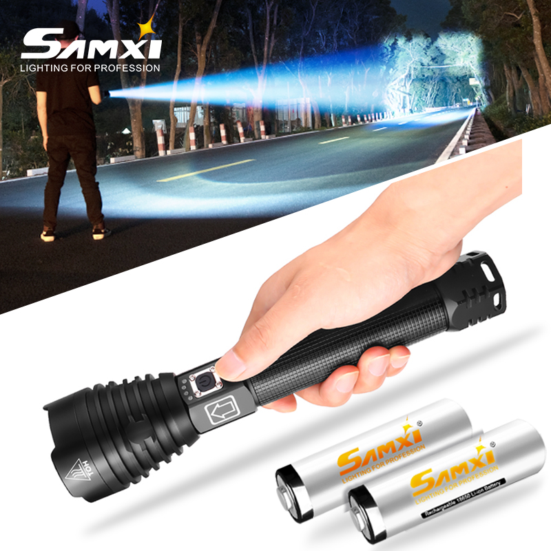 XHP90 Powerful LED Flashlight Rechargeable Ultra Bright Flashlights 18650 Battery USB Torch Lantern With Waterproof For Camping
