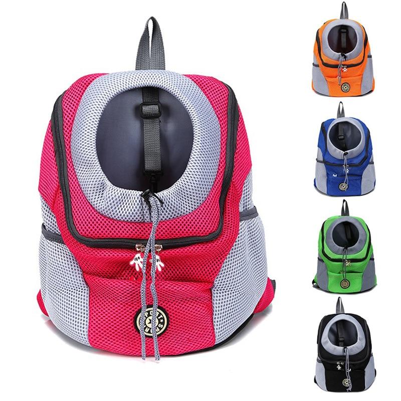 Portable Cat Dog Backpack Carrier Bag Breathable Mesh Double Shoulder Carrier Handbag Outdoor Travel Pet Dog Front Bag Backpack