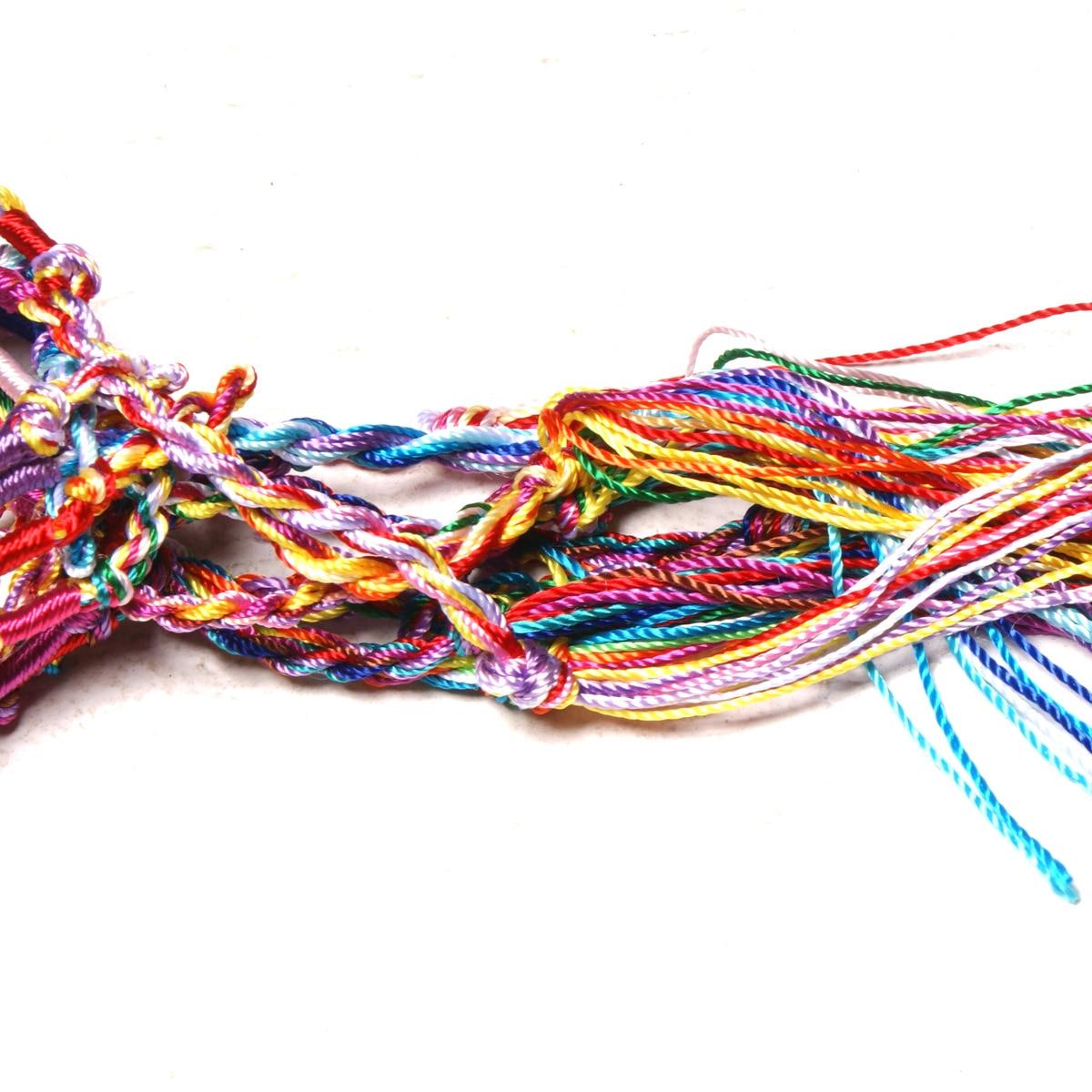 10pc Colorful Woven Braided Friendship Bracelet Handmade Brazilian String Cotton Cord Hippie Surf Men Women Jewelry Gift 3
