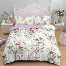 3d Flower Bedding Sets 240x220 Double Queen Plant Duvet Cover 200x200 2/3pc Comforter Set White Floral Nordic Bed Cover