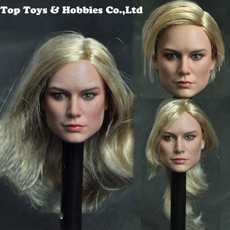 Brie Larson Doll-Head Head-Sculpt Action-Figure Body Female Collection 12inches