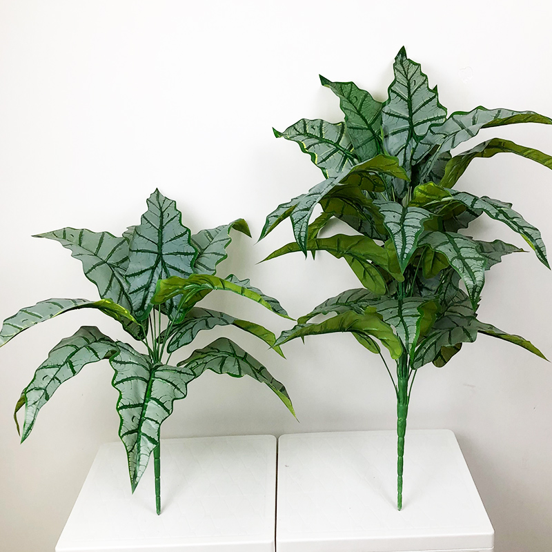 76cm/55cm Large Artificial Monstera Tropical Plants Fake Palm Tree Plastic Maranta Leaves Big Plant for Home Office Decoration-5