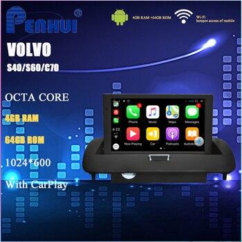 цена на Car DVD GPS for Volvo S40/S60/C70 (2006-2012) 8 inch Intel TS9 Octa Core Android 8.1 4GB RAM+64GB ROM WIFI+BT