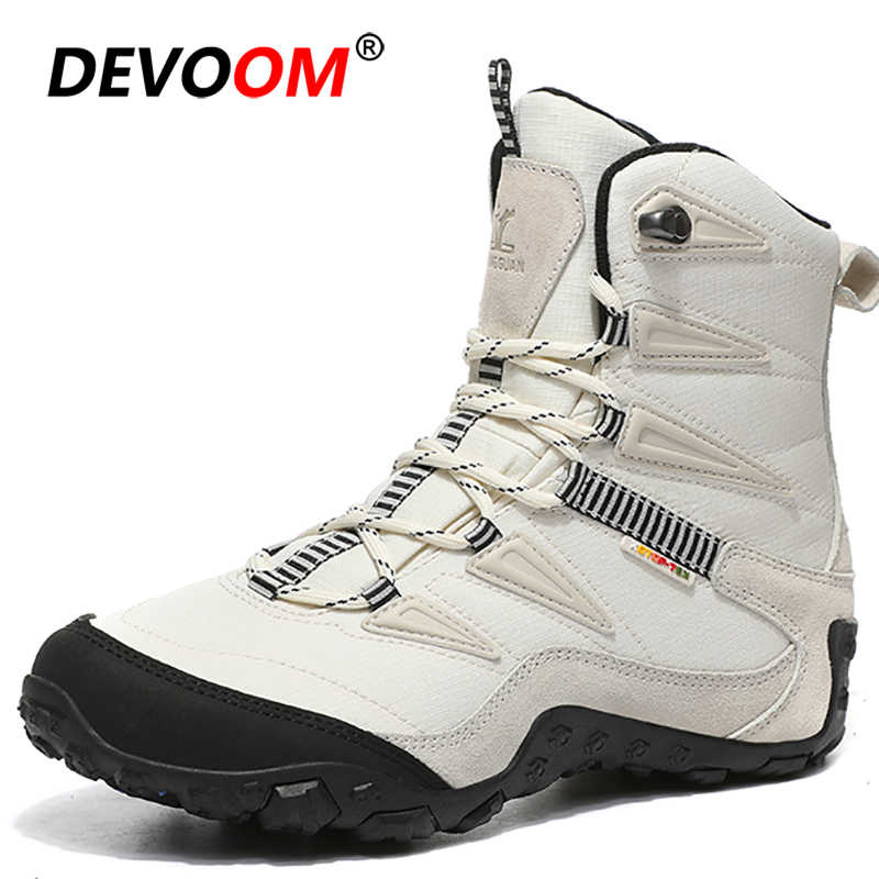 Outdoor Ankle Hiking Boots Men Women Waterproof Sneakers Sonw Boots Winter Unisex Climbing Trekking Shoes Hunting Tactical Boots