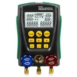 Dy517 manometr chłodniczy cyfrowy miernik ciśnienia w kolektorze próżniowym miernik testowy urządzenie do pomiaru temperatury zaworu Hvac