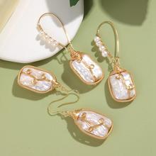 Handmade Real Freshwater Pearl Earrings For Women Gold Color